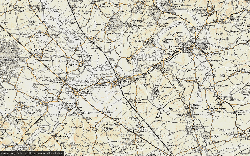 Old Map of New Bradwell, 1898-1901 in 1898-1901