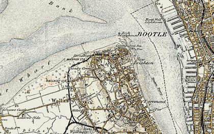 Old map of New Brighton in 1902-1903