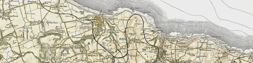 Old map of New Brotton in 1903-1904