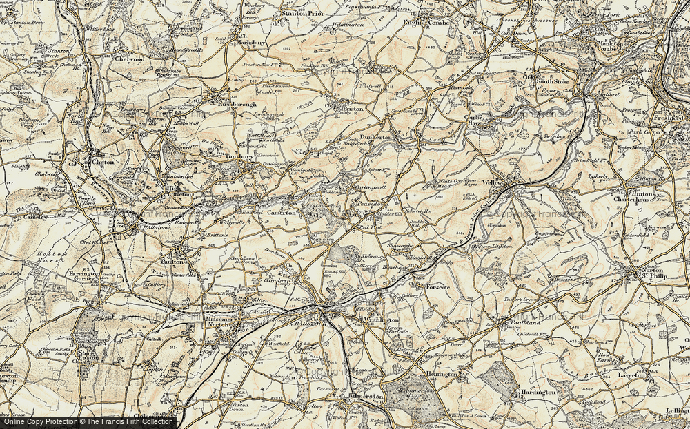 Old Map of Historic Map covering Woodborough Ho in 1899