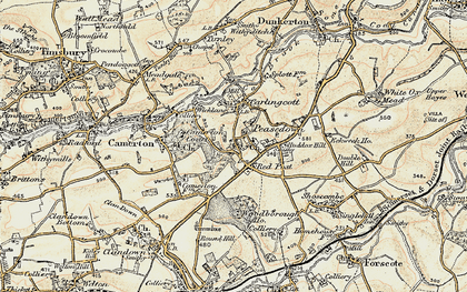 Old map of Woodborough Ho in 1899