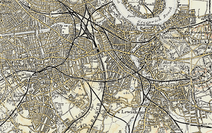 Old map of New Cross in 1897-1902