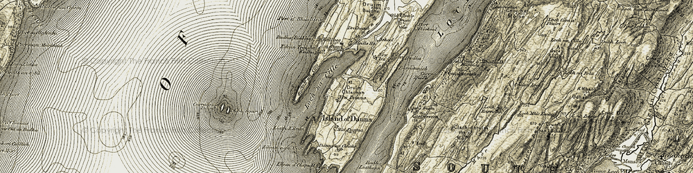 Old map of Liath Eilean in 1905-1907
