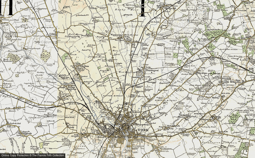 Old Map of New Earswick, 1903-1904 in 1903-1904