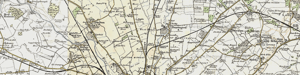 Old map of New Earswick in 1903-1904