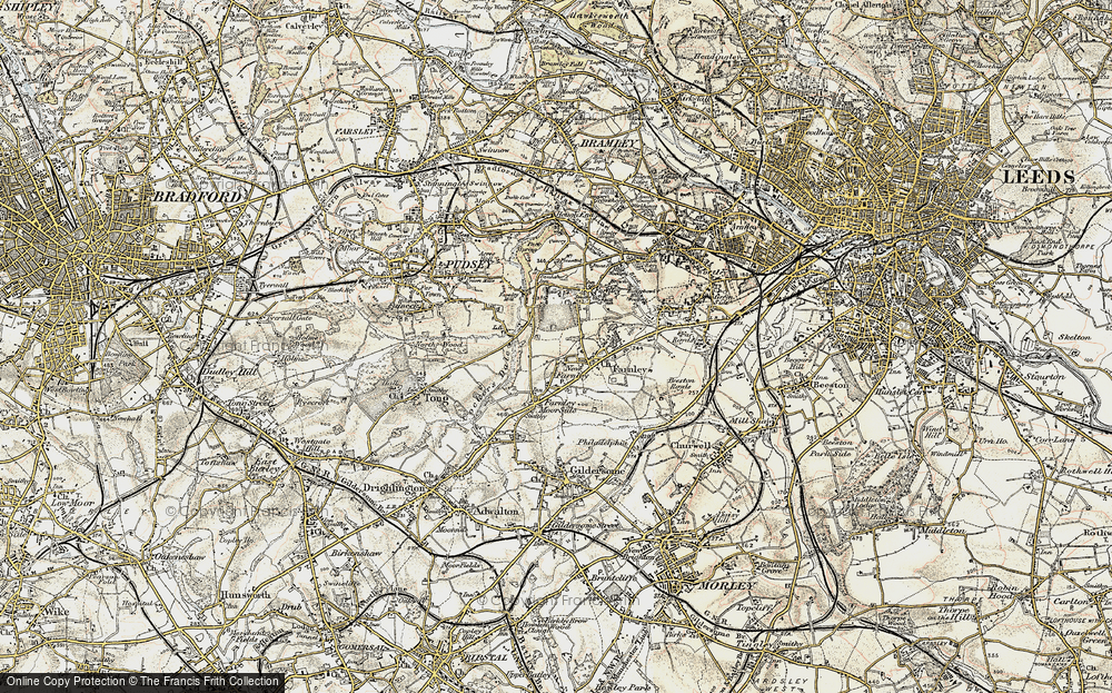 Old Map of New Farnley, 1903 in 1903