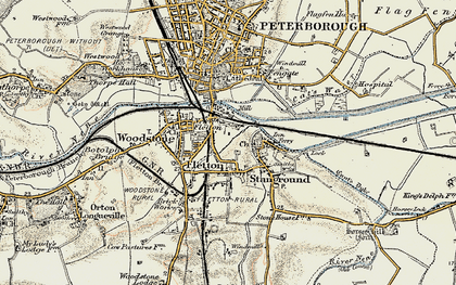 Old map of New Fletton in 1901-1902