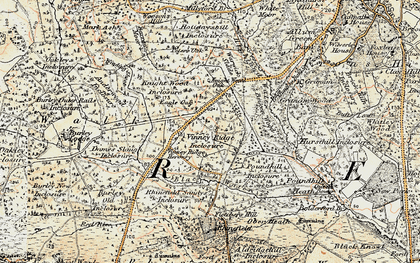 Old map of Wooson's Hill Inclosure in 1897-1909