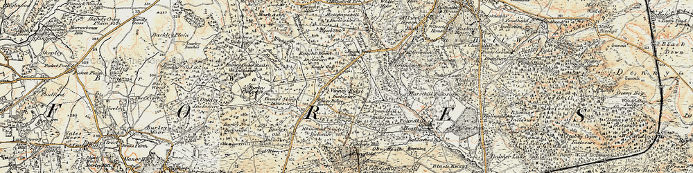 Old map of Winding Shoot in 1897-1909