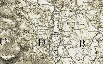 Old map of Airie in 1904-1905