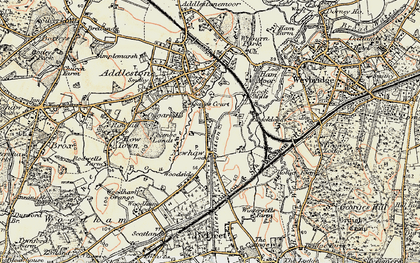 Old map of New Haw in 1897-1909
