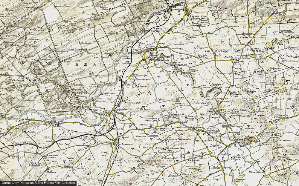Old Map of Historic Map covering Tiptoe in 1901-1904
