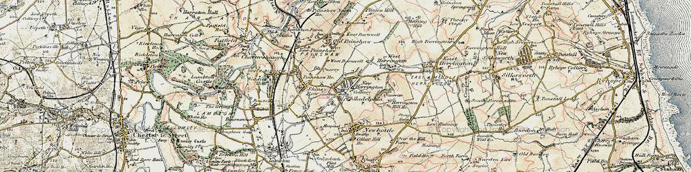 Old map of New Herrington in 1901-1904