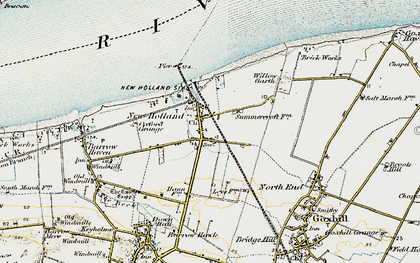 Old map of New Holland in 1903-1908