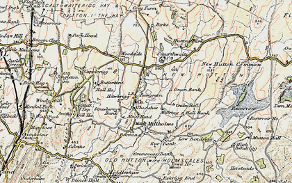 Old map of Woodside in 1903-1904