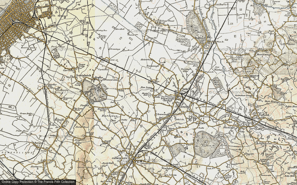 Old Map of Historic Map covering Leeds & Liverpool Canal in 1902-1903