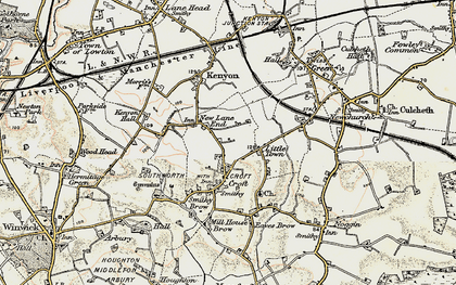 Old map of New Lane End in 1903