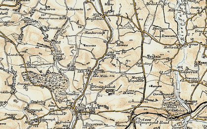 Old map of New Mills in 1900