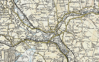 Old map of Whitle in 1902-1903