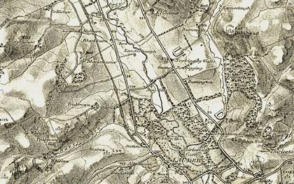 Old map of Lauderhaugh in 1903-1904