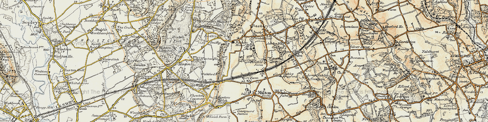 Old map of New Milton in 1897-1909