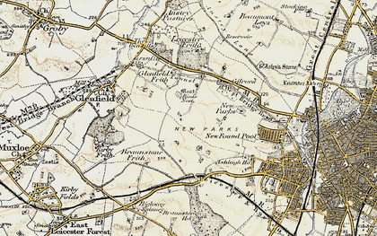 Old map of New Parks in 1901-1903