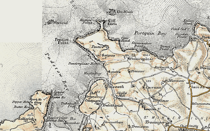 Old map of New Polzeath in 1900
