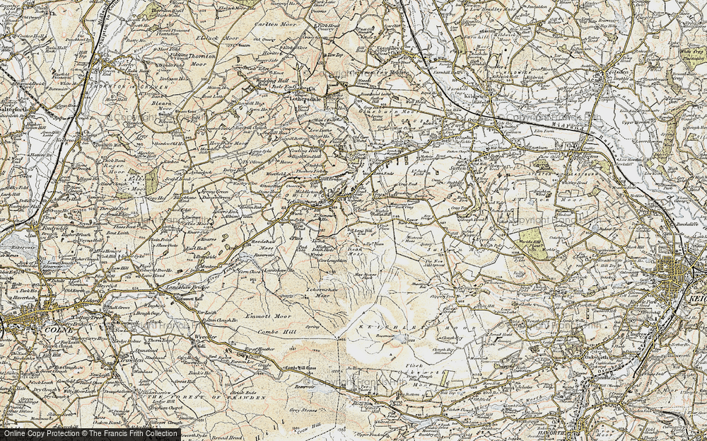 Old Map of Historic Map covering Bare Hill in 1903-1904