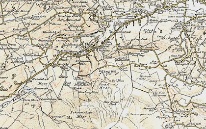 Old map of Bare Hill in 1903-1904