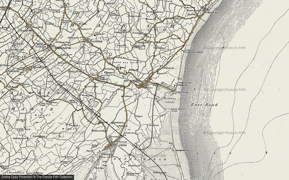 Old Map of New Romney, 1898 in 1898