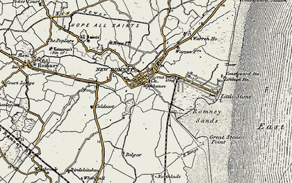 Old map of New Romney in 1898