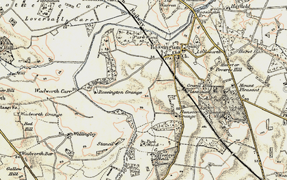 Old map of New Rossington in 1903