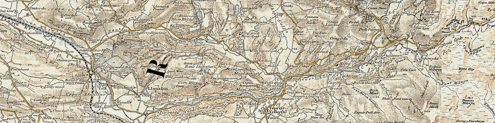 Old map of New Row in 1901-1903