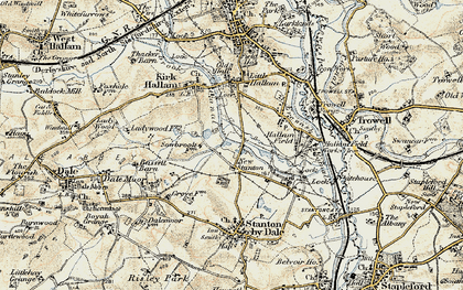 Old map of New Stanton in 1902-1903