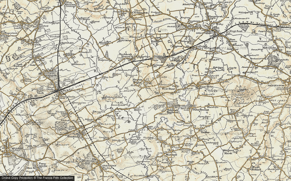 Old Map of Historic Map covering Havering in 1897-1909