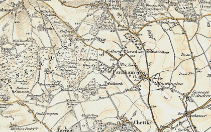 Old map of Larmer Tree Gdns in 1897-1909