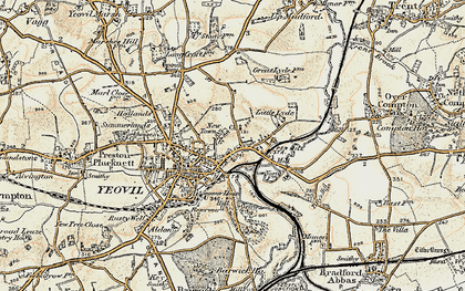 Old map of Tilly's Hill in 1899