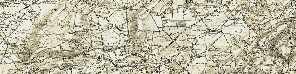 Old map of Wintonhill in 1903-1904