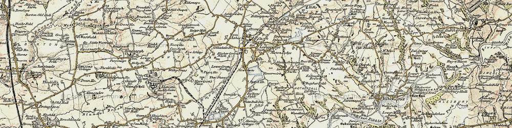 Old map of Alston Grange in 1903-1904