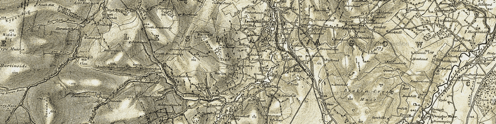 Old map of Whiteside in 1904-1905