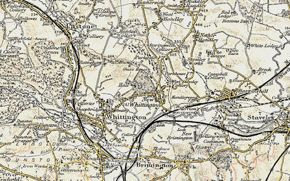 Old map of New Whittington in 1902-1903