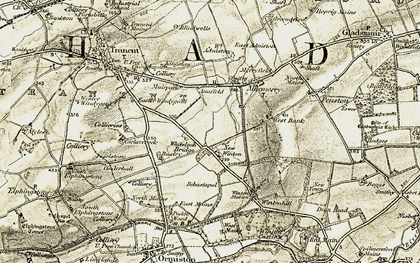 Old map of Adniston in 1903-1904