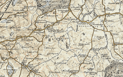 Old map of Ashwood in 1902