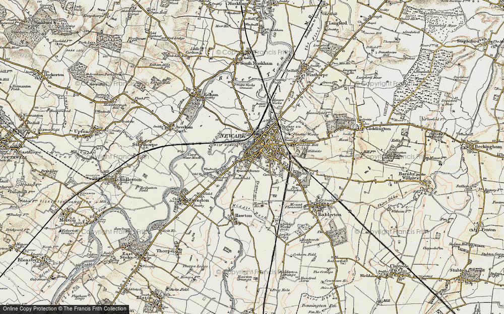 Old Maps of NewarkonTrent Francis Frith