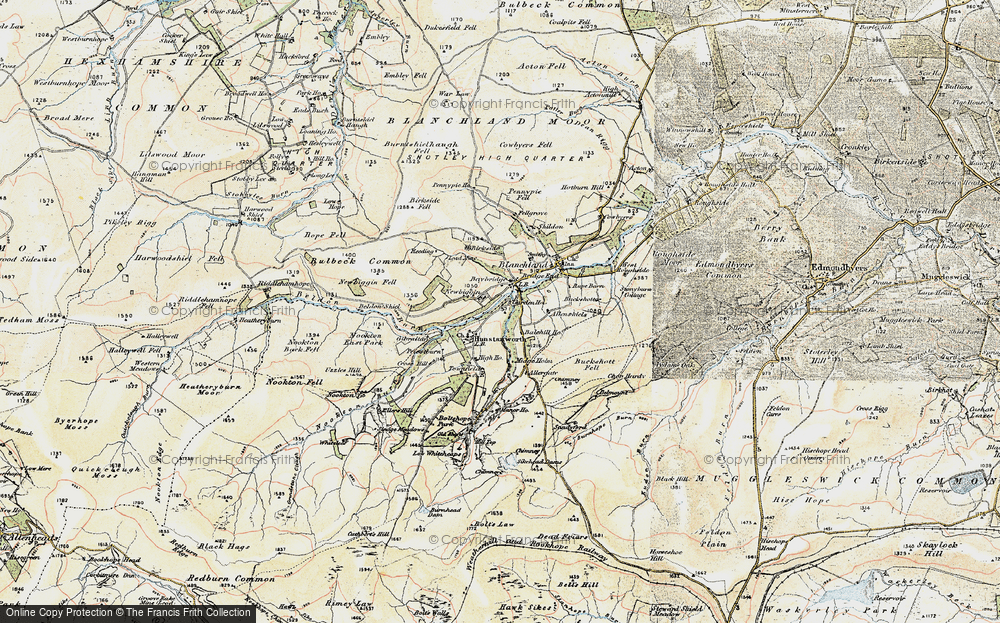 Old Map of Historic Map covering Balehill Ho in 1901-1904