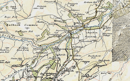 Old map of Balehill Ho in 1901-1904