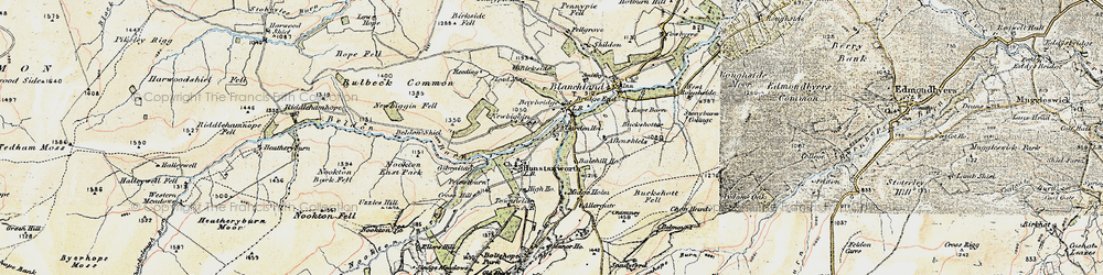 Old map of Allenshields in 1901-1904
