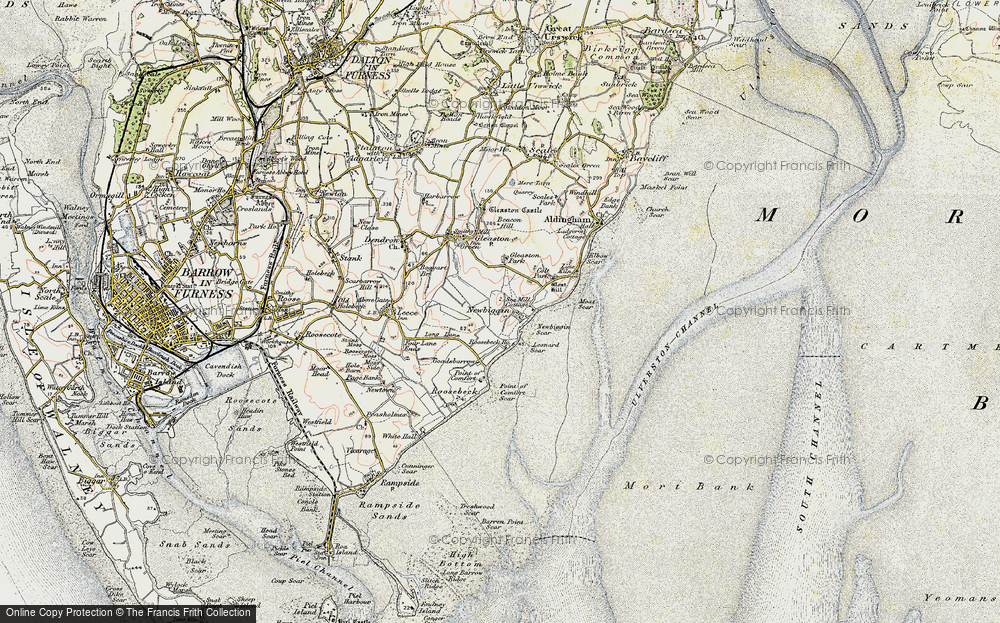 Old Map of Historic Map covering Leonard Scar in 1903-1904