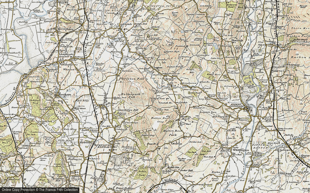 Old Map of Historic Map covering Whin Yeats in 1903-1904