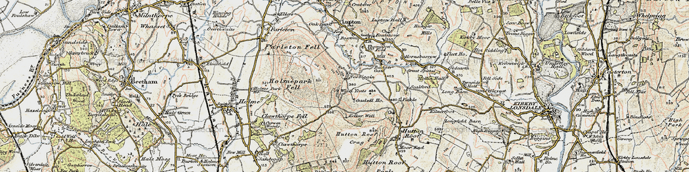 Old map of Whin Yeats in 1903-1904